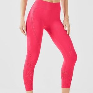 Fabletics Hot Pink Luciana Cropped Tight Size XS